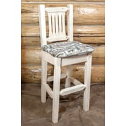 Loon Peak Abella 30'' Clear Lacquer Bar Stool; Ready to Finish