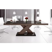 Brayden Studio Collingswood Dining Table; Brown/Espresso