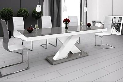 Brayden Studio Collingswood Dining Table; Gray/White
