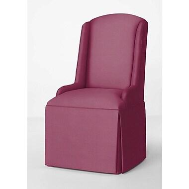 Red Barrel Studio Doric Petite Wing Back Skirted Parsons Chair; Fuchsia