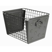 Rebrilliant Paws Metal/Wire Basket; Industrial Gray
