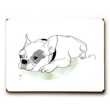 Ebern Designs 'Frenchie' Graphic Art Print on Wood