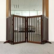 Welland Industries LLC Freestanding Wood Pet Gate ; Cherry