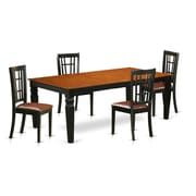 Darby Home Co Beesley 5 Piece HardWood Dining Set; Cherry
