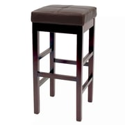 Red Barrel Studio Kimberling 31'' Wood Bar Stool; Brown