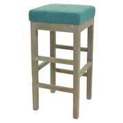Red Barrel Studio Kimberling 31'' Bar Stool w/ Cushion; Aegean