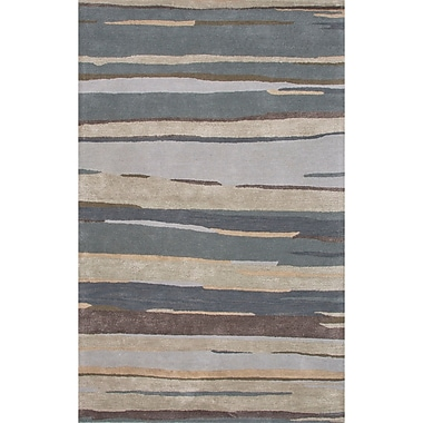 Red Barrel Studio Williamsfield Wool and Art Silk Hand Tufted Blue Area Rug; 2' x 3'