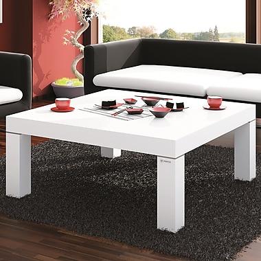 Brayden Studio Kiera Coffee Table; White Gloss