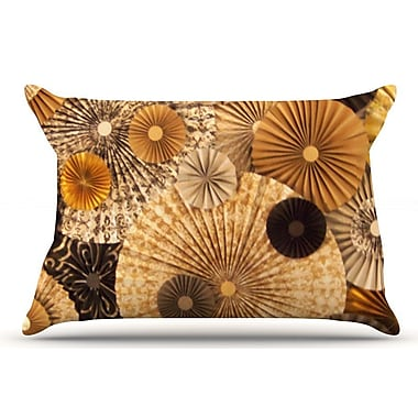 East Urban Home Heidi Jennings 'Grounded' Paper Pillow Case; Brown