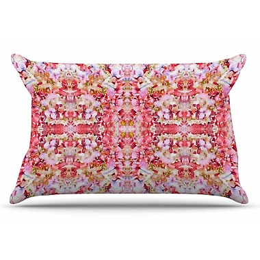 East Urban Home Carolyn Greifeld 'Floral Reflections' Pillow Case; Pink/Red