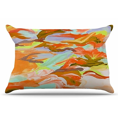 East Urban Home Ebi Emporium 'Still Up In The Air 4' Pillow Case; Yellow/Orange