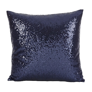Willa Arlo Interiors Pari Glam Sequin Throw Pillow; Navy Blue