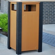 Frog Furnishings Ridgeview 32-Gal Recycled Plastic Receptacle; Cedar