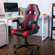 Freeport Park Alleffra Racing High-Back Executive Chair; Red