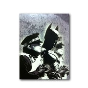 Ivy Bronx 'Batman and the Police' Graphic Art Print on Brushed Aluminum; 14'' H x 11'' W x 1'' D
