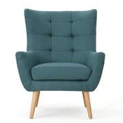Home Loft Concepts Nola Mid Century Fabric Club Chair; Dark Teal