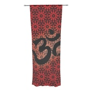 East Urban Home Om Decorative Sheer Curtain Panels (Set of 2); Red