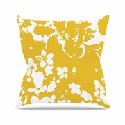 East Urban Home Love Midge Helena Floral Floral Modern Outdoor Throw Pillow; Golden