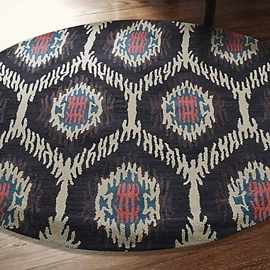 World Menagerie Brandt Geometric Hand-Tufted Brown/Beige Area Rug; Round 8'