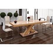 Brayden Studio Collingswood Dining Table; Oak/Cappuccino