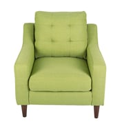 Latitude Run Bacote Upholstered Arm Chair; Vintage Green