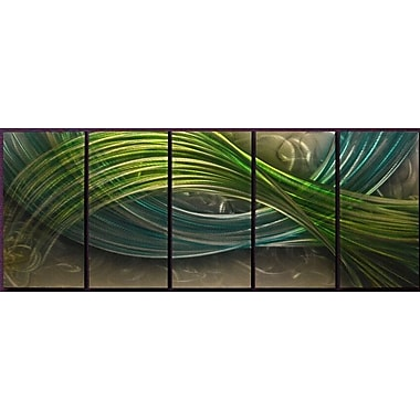 Orren Ellis 'Infinite Waves' Graphic Art Print Multi-Piece Image on Metal