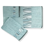 Popular Bath Products Shell Rummel Tidelines 3 Piece Towel Set; Blue