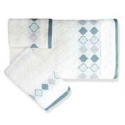 Popular Bath Products Shell Rummel Sea Glass 3 Piece Towel Set; White
