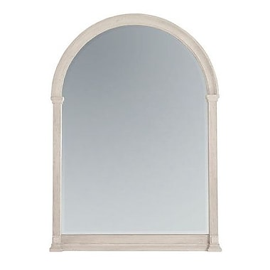 One Allium Way Carrie Arched Glass Accent Mirror; White