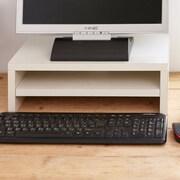 Symple Stuff 2 Shelf Eco ZBoard Monitor Stand; Aspen White