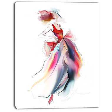 East Urban Home Retro Fashion Dress Graphic Art Print on Canvas; 12 '' W x 20 '' H