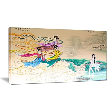 East Urban Home Classical Chinese Painting Graphic Art Print on Canvas; 40 '' W x 20 '' H