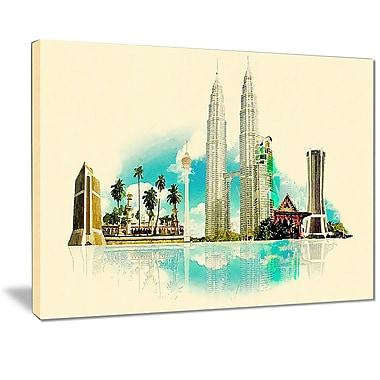 East Urban Home Kuala Lumpur Panoramic View Graphic Art Print on Canvas; 40 '' W x 30 '' H