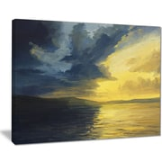 East Urban Home Sunset of Light and Shadows Oil Painting Print on Canvas; 40 '' W x 30 '' H