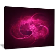 East Urban Home Glowing Magenta Circles Graphic Art Print on Canvas; 20 '' W x 12 '' H