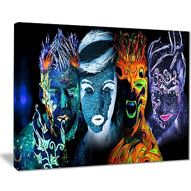 East Urban Home Earth Fire Air and Water Graphic Art Print on Canvas; 20 '' W x 12 '' H