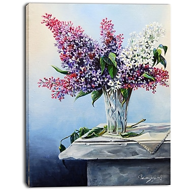 East Urban Home Lilac Bouquet Graphic Art Print on Canvas; 12 '' W x 20 '' H