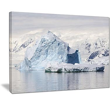 East Urban Home Antarctica Mountains Graphic Art Print on Canvas; 20 '' W x 12 '' H