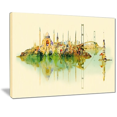 East Urban Home Istanbul Panoramic View Photographic Print on Canvas; 20 '' W x 12 '' H