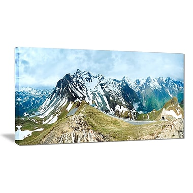 East Urban Home Alps Summer Panorama Graphic Art Print on Canvas; 40 '' W x 20 '' H