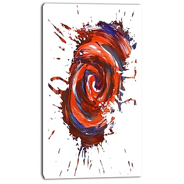 East Urban Home Red Multicolor Stain Graphic Art Print on Canvas; 20 '' W x 40 '' H