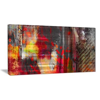 East Urban Home Red Decorative Design Graphic Art Print on Canvas; 40 '' W x 20 '' H