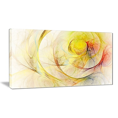 East Urban Home Yellow Storm Sky Graphic Art Print on Canvas; 40 '' W x 20 '' H