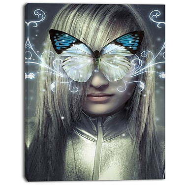 East Urban Home Serious Young Blonde Graphic Art Print on Canvas; 12 '' W x 20 '' H