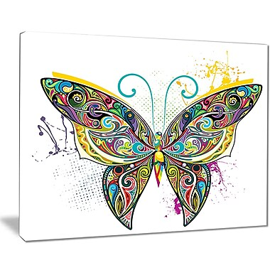 East Urban Home Openwork Butterfly Graphic Art Print on Canvas; 20 '' W x 12 '' H