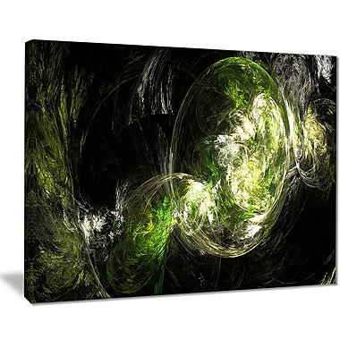 East Urban Home Billowing Smoke Green Graphic Art Print on Canvas; 40 '' W x 30 '' H