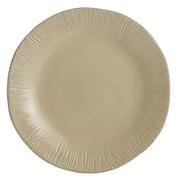 Arte Italica Graffiata Round Platter; Taupe