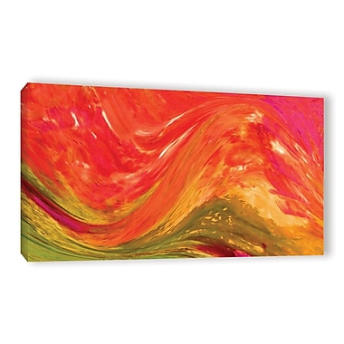 Ivy Bronx Make Waves Painting Print on Wrapped Canvas; 18'' H x 36'' W