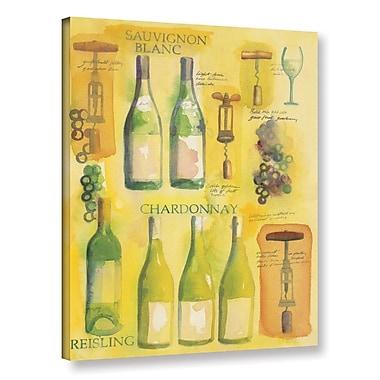 Fleur De Lis Living White Wine Collage Graphic Art on Wrapped Canvas; 24'' H x 18'' W x 2'' D