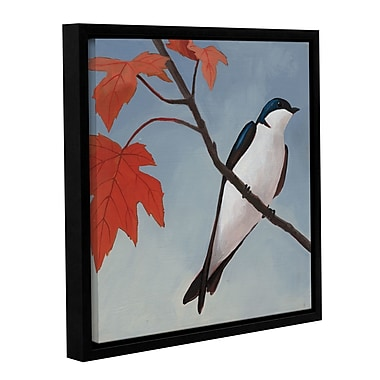 Red Barrel Studio Autumn Tile I Framed Painting Print on Wrapped Canvas; 24'' H x 24'' W x 2'' D